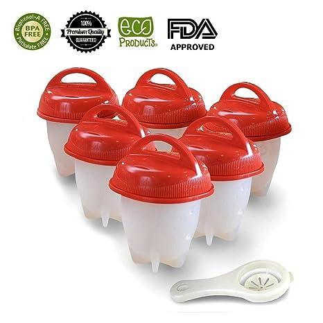 Amazon.com: Ezy huevos paquete de 6 de silicona ...