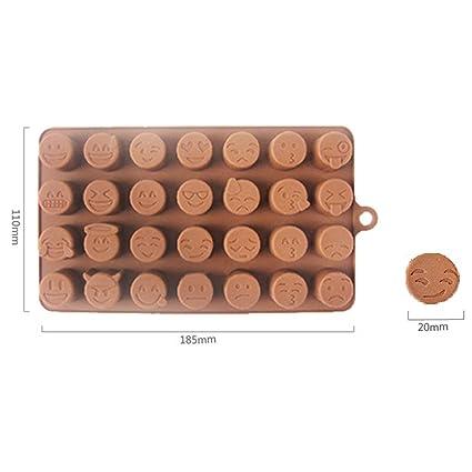 Molde de silicona para chocolates con diferentes moldes de Emoji para tartas de chocolate o dulces