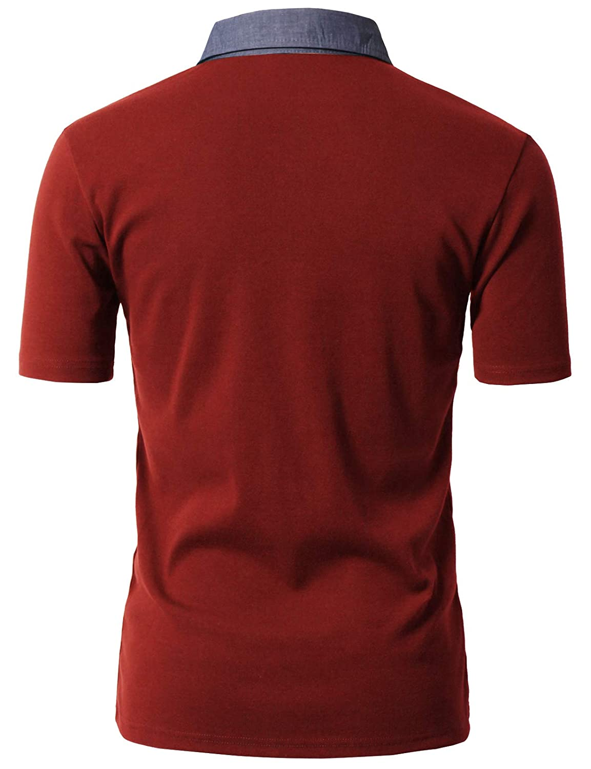 H2H Mens Casual Slim Fit Short Sleeve Polo T-Shirts Various Styles