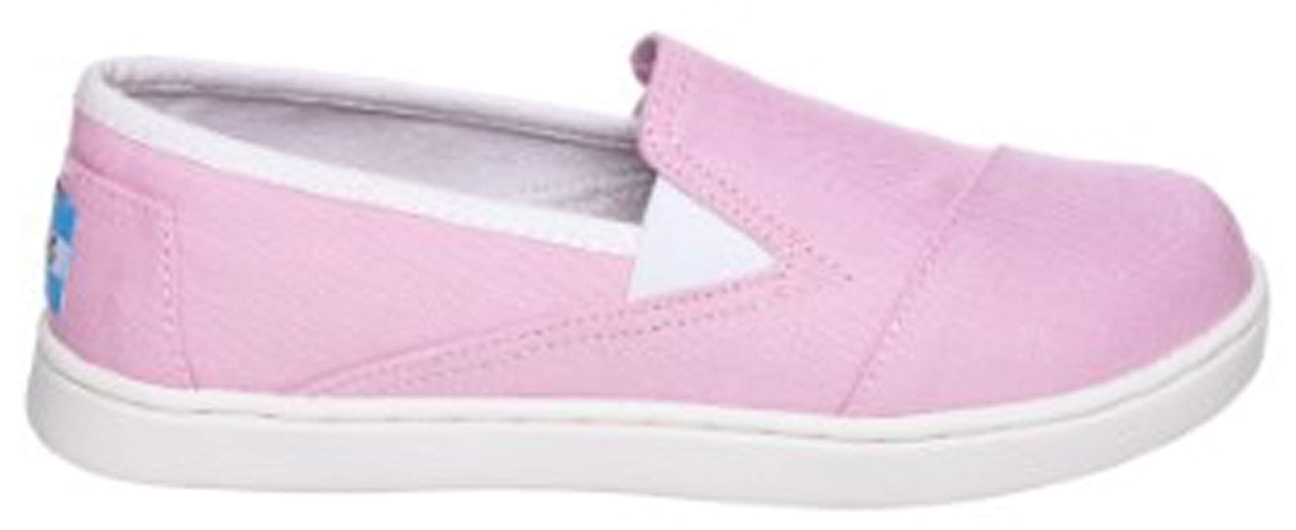 Toms Avalon Sneaker Pink Canvas 10004747 Youth 5.5