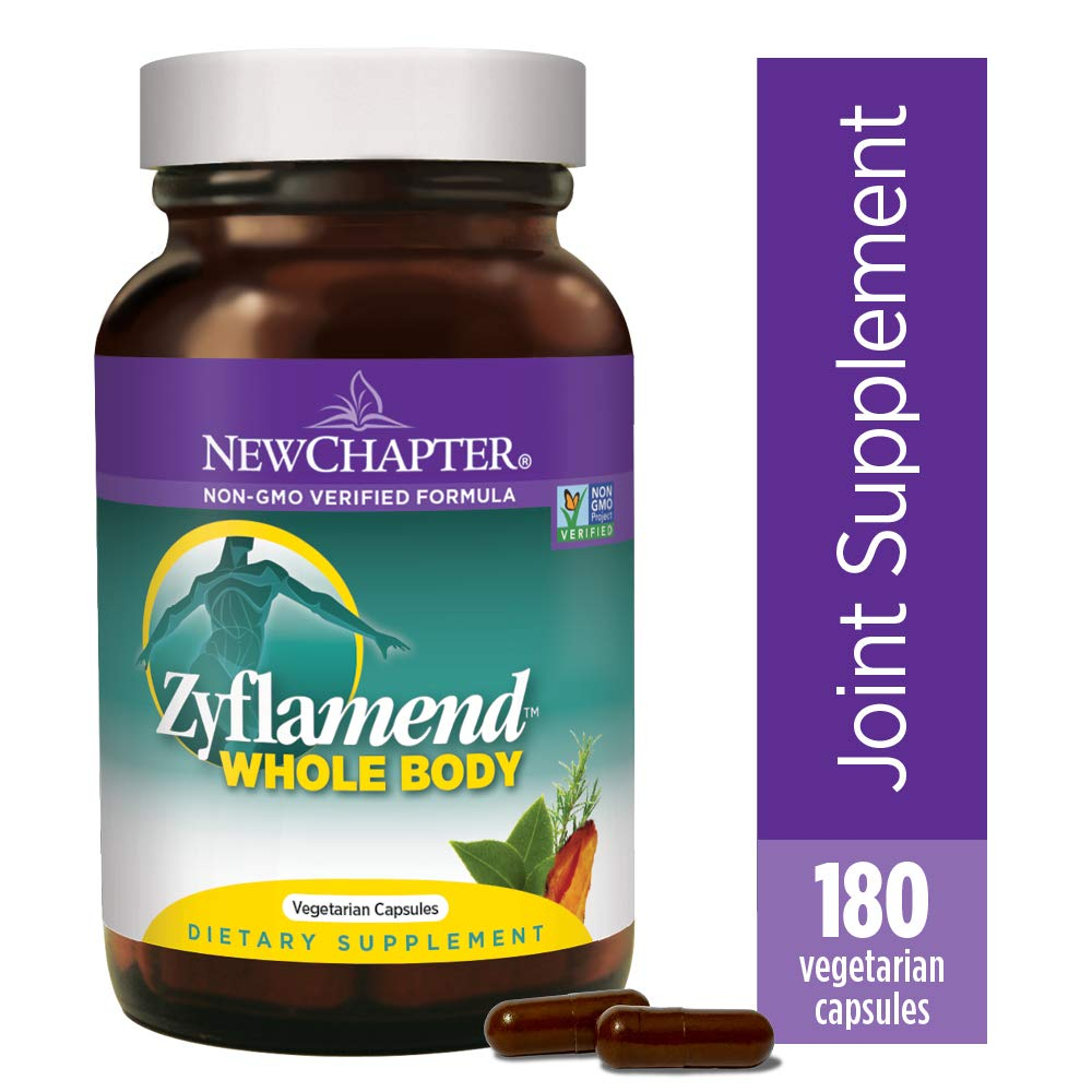 New Chapter Multi-Herbal + Joint Supplement, Zyflamend Whole Body for Healthy Inflammation Response + Herbal Pain Relief - 180 Count by New Chapter