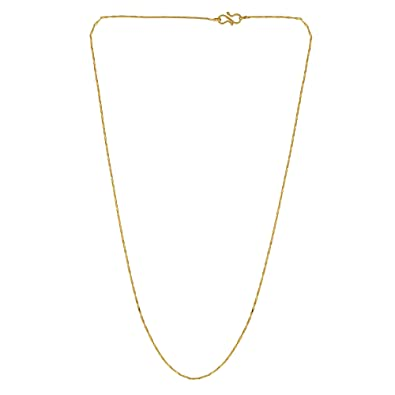 0ba81aebb45a2 Buy MissMister Gold Plated Simple and Sober Chain Men Women (24 Inch ...