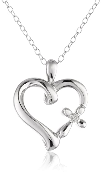 Amazon sterling silver diamond accent the greatest love heart sterling silver diamond accent the greatest love heart with cross pendant necklace aloadofball Gallery