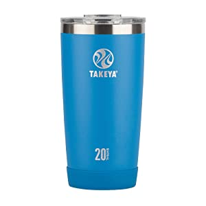 Takeya Actives Insulated Stainless Tumbler with Flip Lid, 20oz, Sapphire