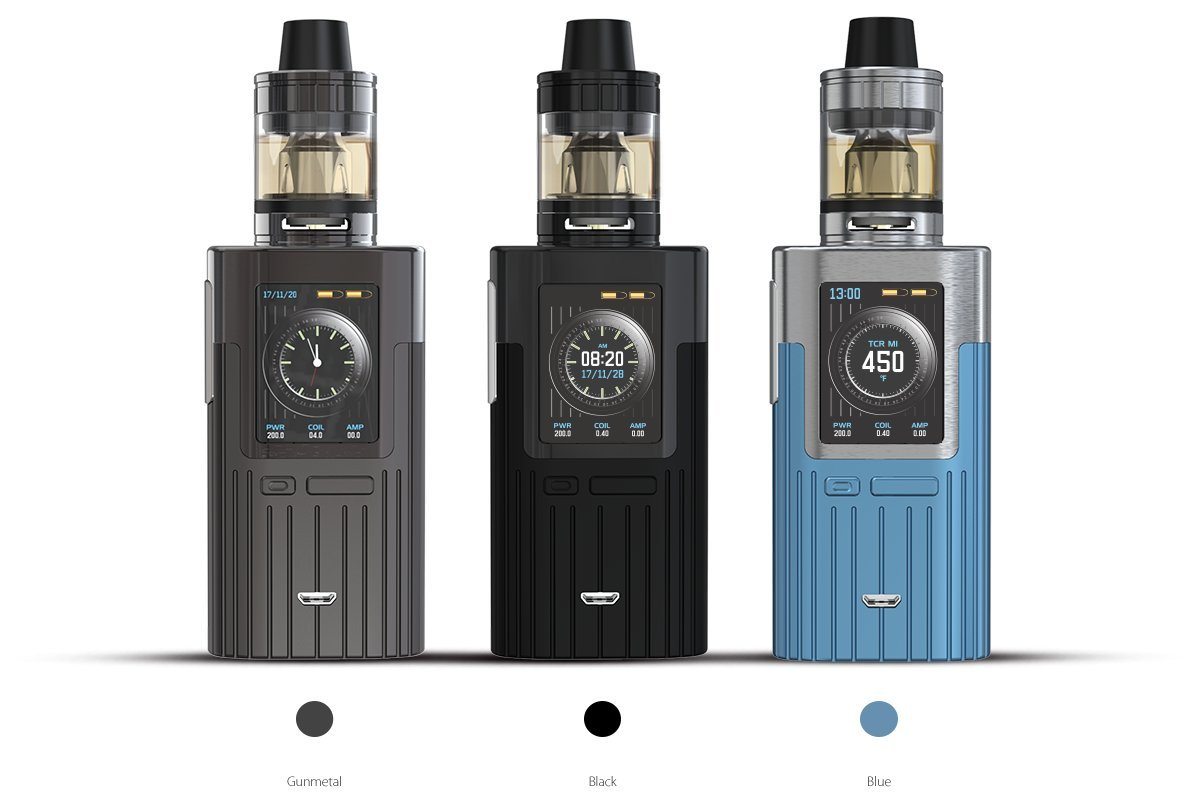 Auténtico Joyetech ESPION 200W con ProCore X TC MOD Kit (Gris) Cigarrillo electrónico con PEACEVAPETM Cargador 18650 USB in Tabaco y Sin Nicotina: ...