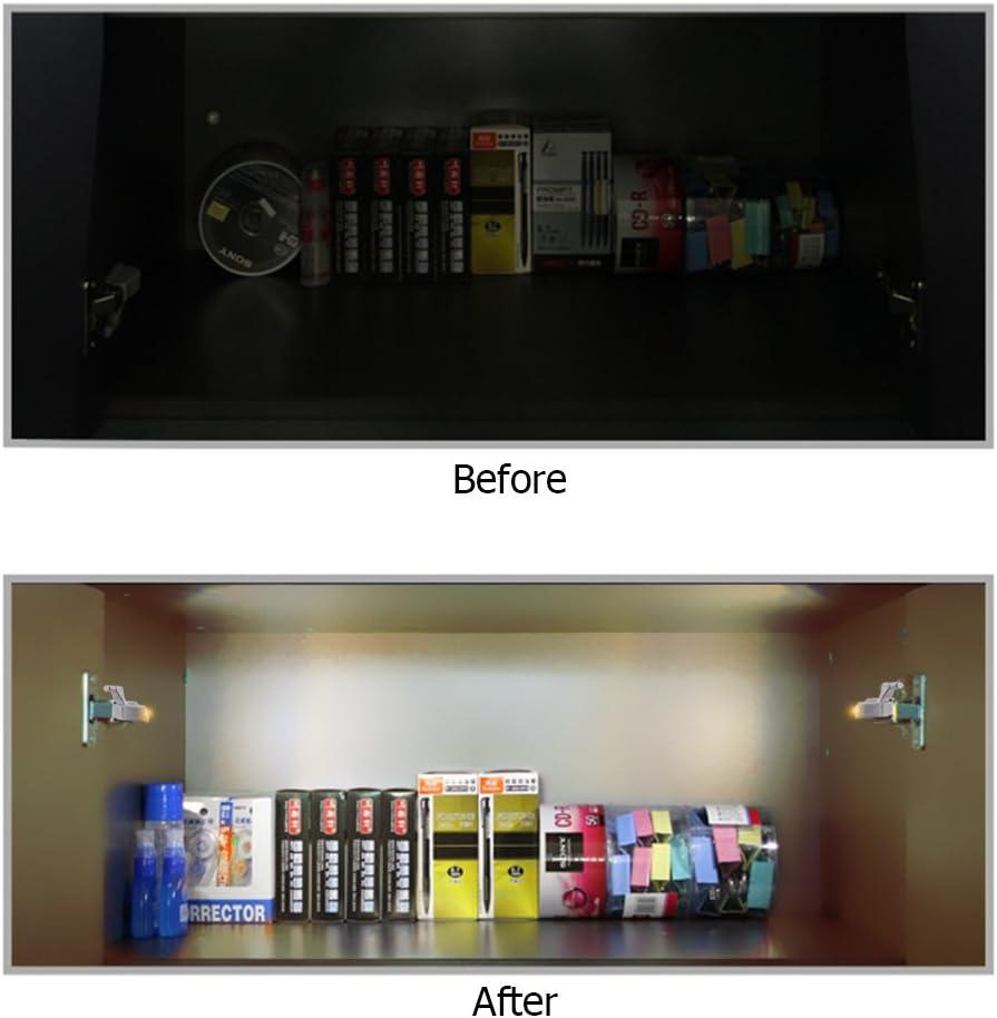 TopHGC 10 ST/ÜCKE Scharnier Led-licht Kaltes Wei/ß LED Sensor Licht Schrank Kleiderschrank Beleuchtung Sensor Nachtlichter