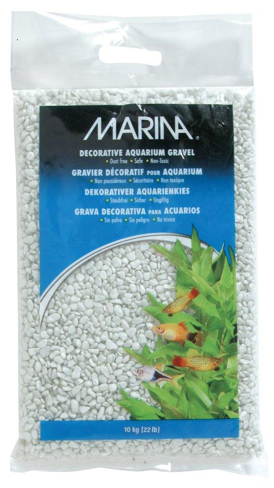 Marina 12475 Cream White Decorative Aquarium Gravel, 10kg, 22-Pound