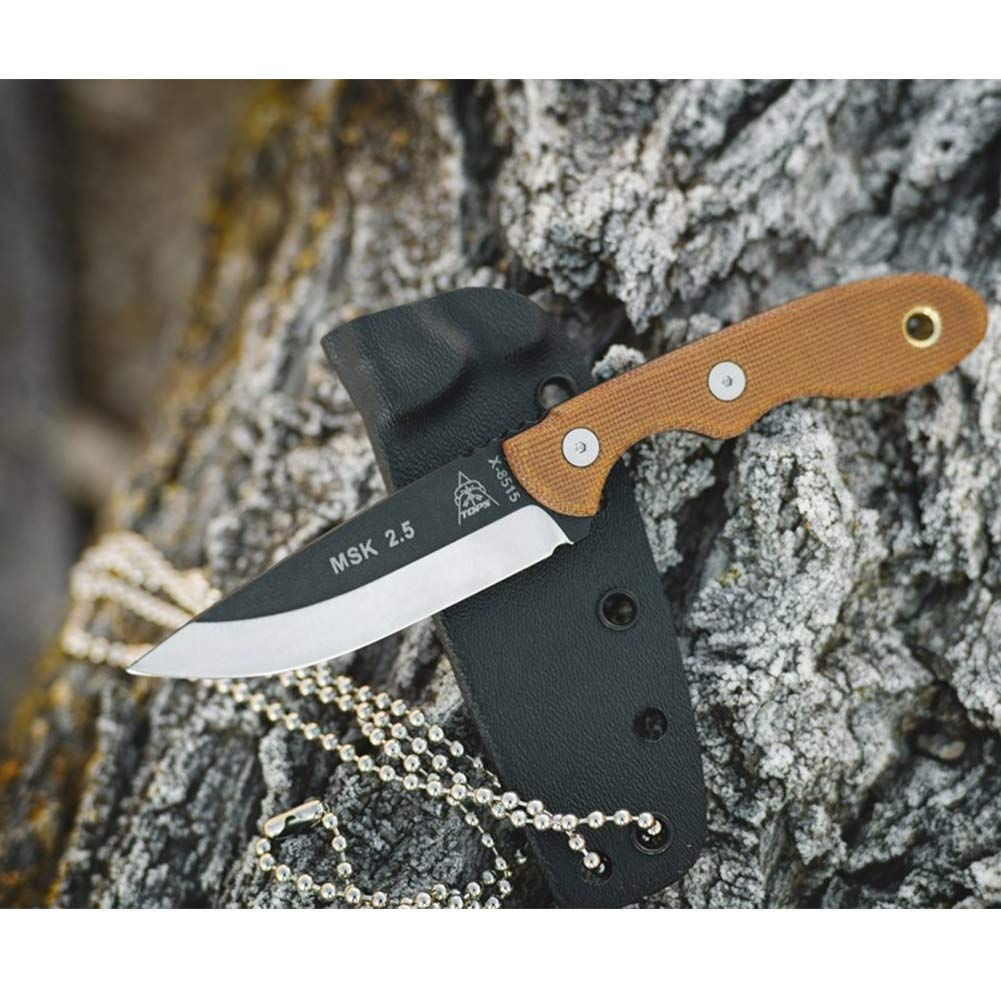 Tops Knives Mini Scandi 3in Drop Point Fixed Blade Knife - MSK-2.5