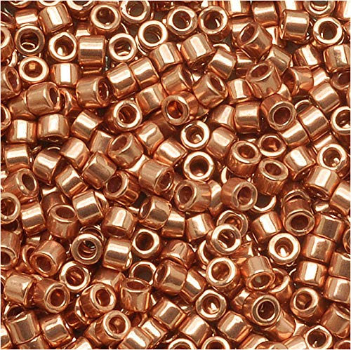 (Miyuki Delica Seed Beads, 11/0 Size, 100 Gram Bulk Bag, Bright Copper Plated Metallic DB040)