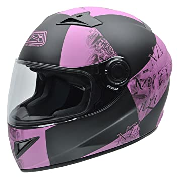 Amazon.es: NZI 150196G678 Must Multi Victory - Casco de Moto, Negro/Rosa, 57 (M)