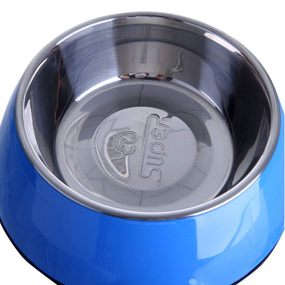 bluee 8.88.83 bluee 8.88.83 XIAN Dog Bowl,Dog Dog Bowl Detachable Stainless Steel Feeding Bowl with Stand Dog Food Holder eco Friendly Dog Dog Easy to Clean Non-Skid Bowls for Dogs (color   bluee, Size   8.8  8.8  3)