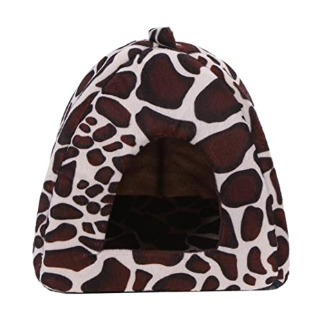 Prosperveil - Caseta y cama para mascotas en forma de fresa, lavable y suave,