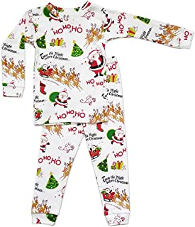 product image for Books to Bed Boys Girls Pajamas - T'Was The Night Before Christmas White Pajama Set