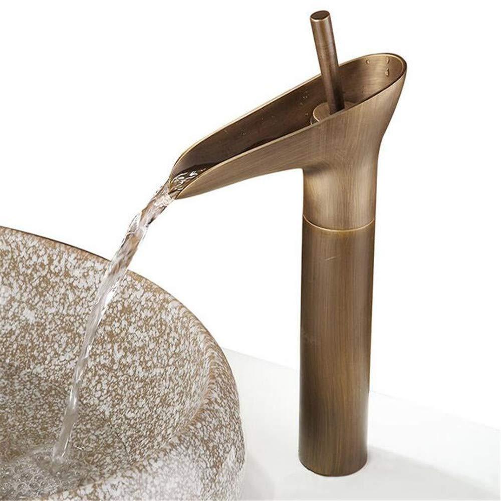 Antique Faucet Copper European Basin Faucet Above Counter Basin hot and Cold Faucet Faucet Splash Head
