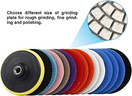 3 Zoll 100mm Nasspolierradsatz f/ür Beton Marmor Granit Stein Polieren Set Gobesty Dimond Polierscheiben 11-tlg