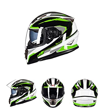 Goolife Moto Crash Casco Modular Alta Seguridad-GXT Full Face Racing Casco De Moto con Anti-Niebla Doble Lente Cuatro Estaciones Universal para Adultos ...