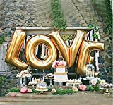 40 inch LOVE Gold Large Helium Balloons Decorations,Foil Balloon,Four Letter Balloon, Party Balloon,Wedding Balloon,Party Decoration,Party Supplies