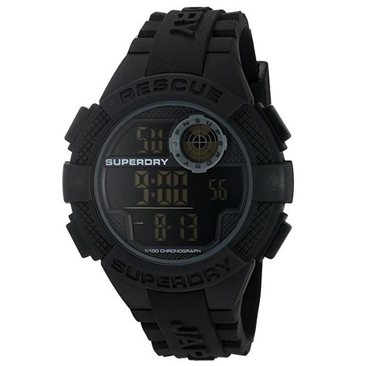 Superdry Radar Digital Black Dial Men's Watch – SYG193B