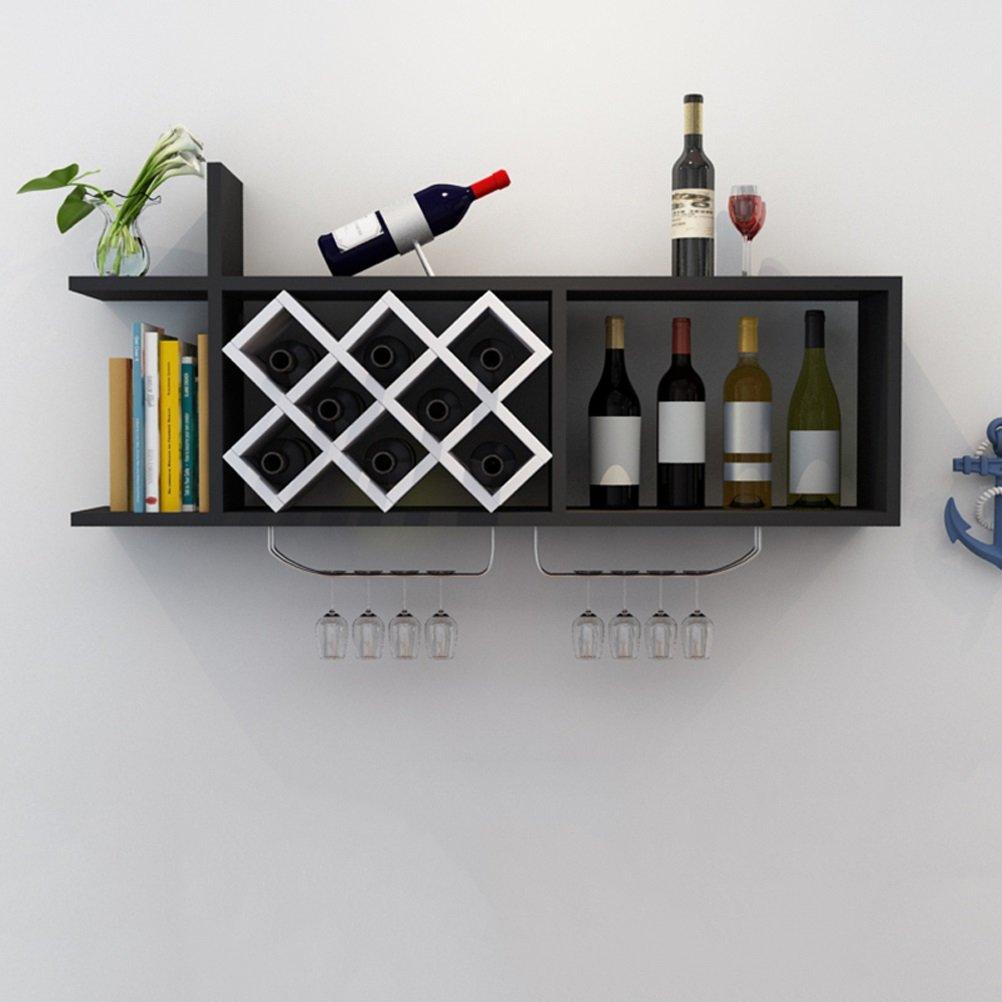 Colore : A QIN PING GUO Scaffale da Parete per Vino Scaffale da Parete per Vino Appendino da Parete per Vino Porta Bicchiere da Vino Ristorante