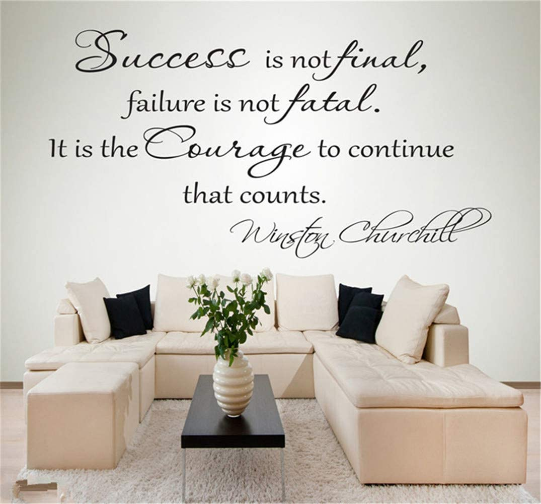 Success Is Not Final  Winston  Churchill Wall Art Quote Vinyl Decal Sticker