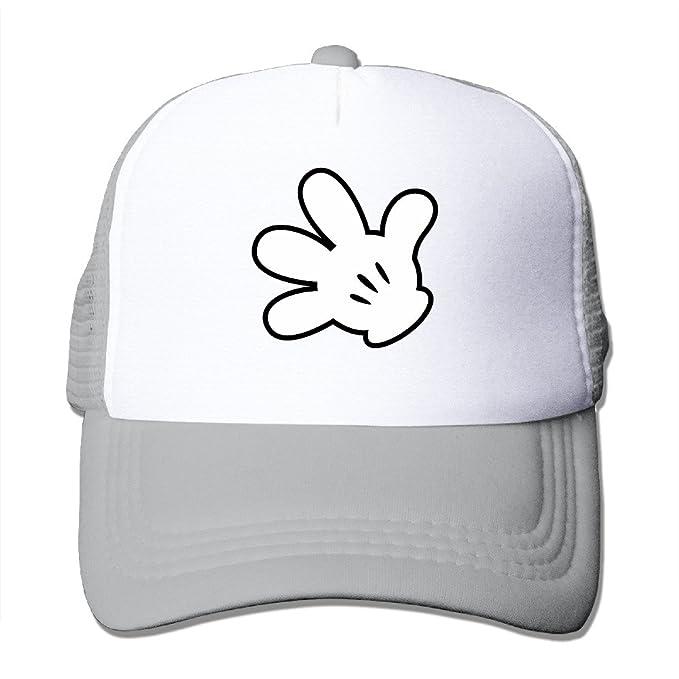 Mickey Mouse Character Big mano logotipo gorra (diseño con respaldo de malla ajustable gorro: Amazon.es: Hogar