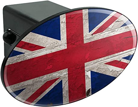 Graphics and More American USA Flag Personalized Custom Oval Tow Trailer Hitch Cover Plug Insert