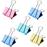 24 Pcs Colorful Large Binder Clips 1.6 inch for Office