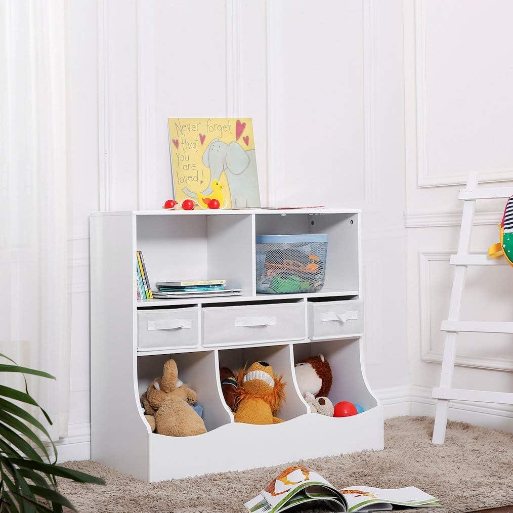 Decopatent Spielzeugschrank/Bücherregal für Kinder - Holzschrank