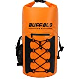 Buffalo Gear Portable Insulated Backpack Cooler Bag - Hands-Free and Collapsible, Waterproof and Soft-Sided Cooler Backpack f
