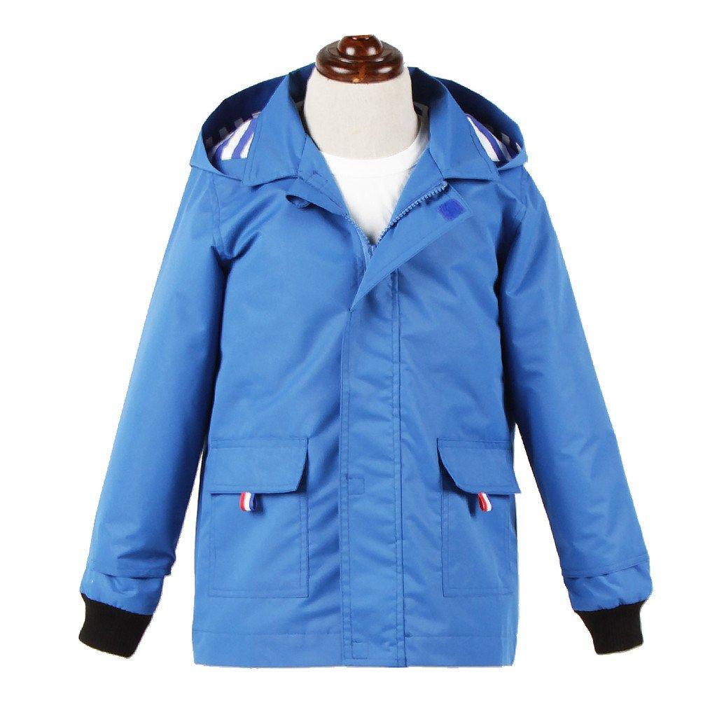 M2C Boys Raincoat Hooded Jacket Waterproof Coat Outdoor Light Windbreaker Blue 14