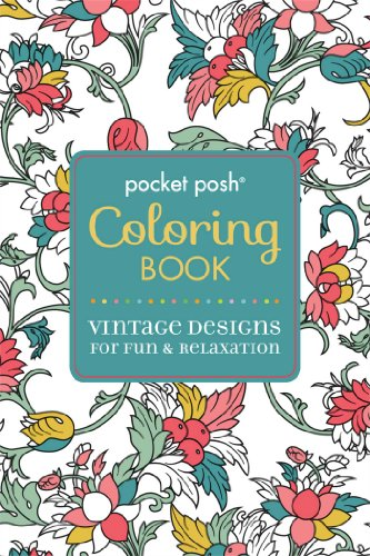 Patterns Glass Painting Reverse (Pocket Posh Adult Coloring Book: Vintage Designs for Fun & Relaxation (Pocket Posh Coloring Books))
