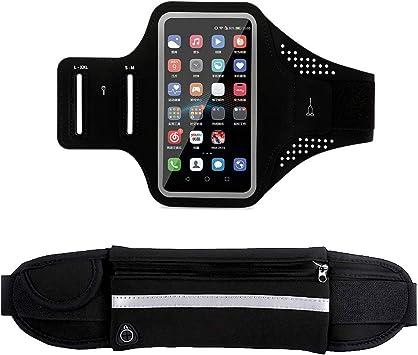 NEPAK Running Belt Waist Pack + Estuche para Brazalete para teléfono Celular Resistente al Agua, Funda Ajustable para Correr para Todo Tipo de teléfonos iPhone: Amazon.es: Deportes y aire libre