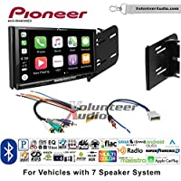 Volunteer Audio Pioneer AVH-W4400NEX Double Din Radio Install Kit with Wireless Apple CarPlay, Android Auto, Bluetooth Fits 2010-2012 Nissan Cube (7 Speaker Factory Amplified systems)