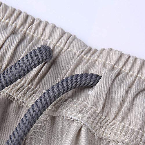 Chandal Trabajo para Algodon Pantalones Hombre Monta de Correr Deportivo Hombre Cordones Chándal Pantalon Caqui Logobeing con Hombres Deporte Chino Jogging xEzww