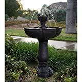Dancing Waters Cordless Fountain-21 in. L x 21 in. W x 34 in. H