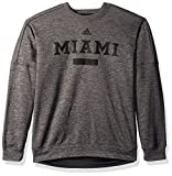 NCAA Miami of Ohio Red Hens Men's Sideline Chiseled Team Issue Fleece Crew Sweat Shirt, Large, Dark Gray