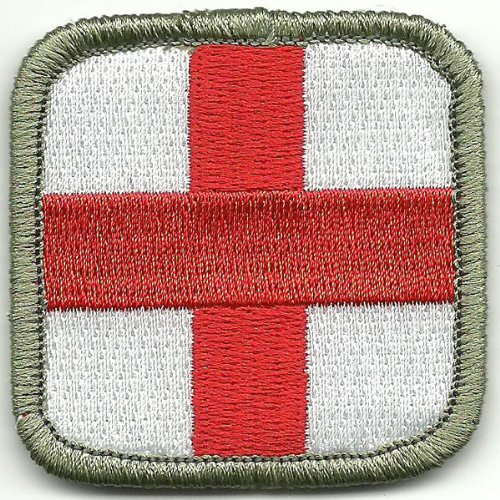 Medic Cross Tactical Patch - Red White Grey