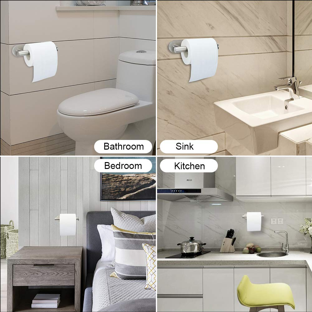 Portarrollos de papel higiénico sin taladro,portarrollos baño adhesivo soporte para rollo de papel higiénico autoadhesivo de acero inoxidable soporte para ...