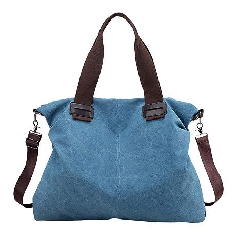 cbf3e67a03 Donna Borsa Cotone Tela Borsetta a Tracolla Shopping Bag Vintage Casual Tote  Shopper Borse per Signore