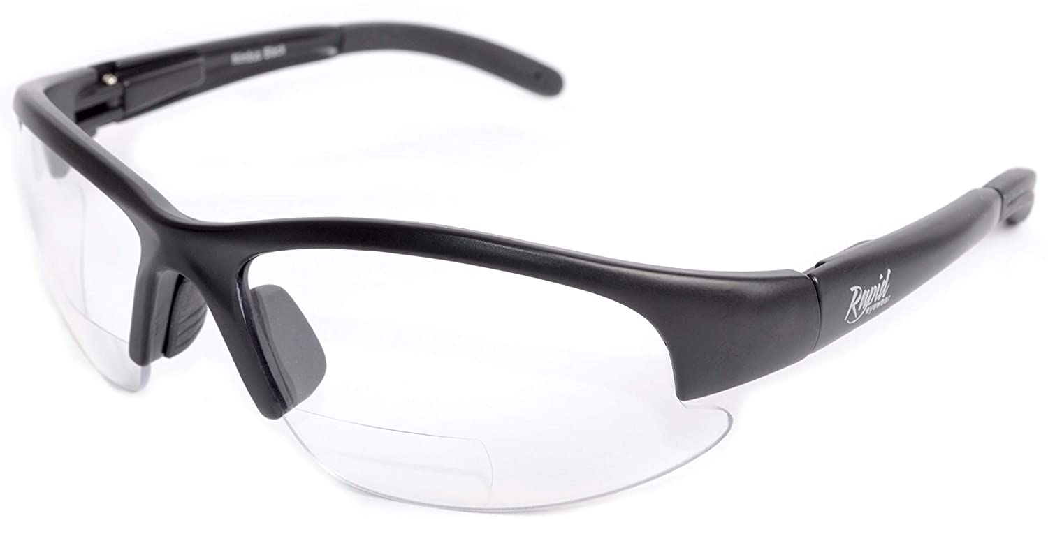 Rapid Eyewear TRANSPARENT LINE BIFOCAL 2.0 SAFETY GLASSES for Men and Women. Clear Lens for Use in Industry, DIY, Lab and Sports inc. Cycling and Shooting. UV400 Protected