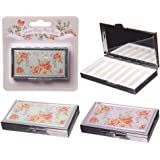 Handy 7 Days Metal Pill Box Chintz Design - Height 1cm Width 8cm Depth 4.5cm
