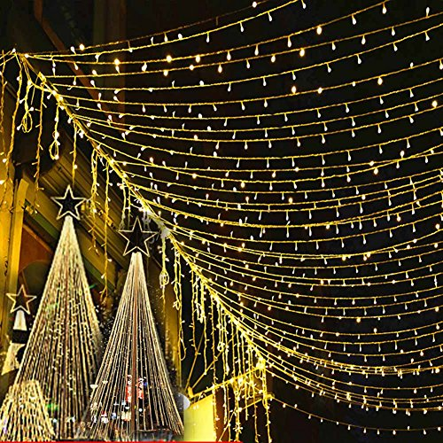 Lily's Gift LED String Lights with 66ft 200LED 8 Modes Irregular Firefly Starry String Light for Patio, Garden, Yard, Square, Chritmas, Wedding Decor (Warm Light) by Lily's Gift (Image #10)