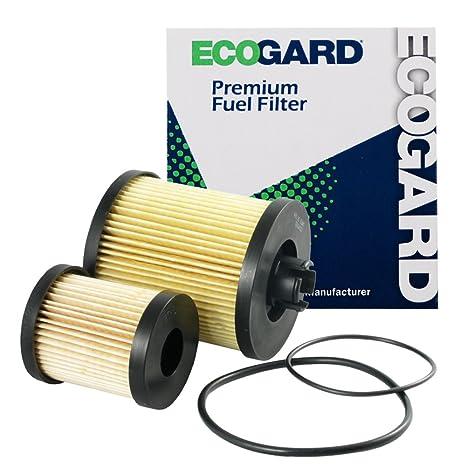 amazon com: ecogard xf55590 diesel fuel filter - premium replacement fits  ford f-250 super duty, f-350 super duty, excursion, f-450 super duty,