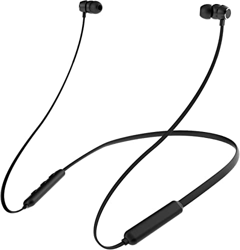 ICONNTECHS IT Bluetooth Headphones, Wireless Lightweight Neckband Headset, IPX5 Water Resistant Sport Earbuds with Noise Cancelling and Built-in Mic