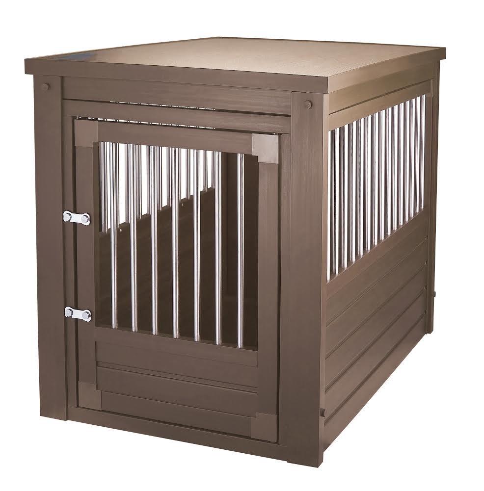 New Age Pet EHHC103L EcoFlex Habitat-n-Home Inn Place Crate/Table (Russet Brown)