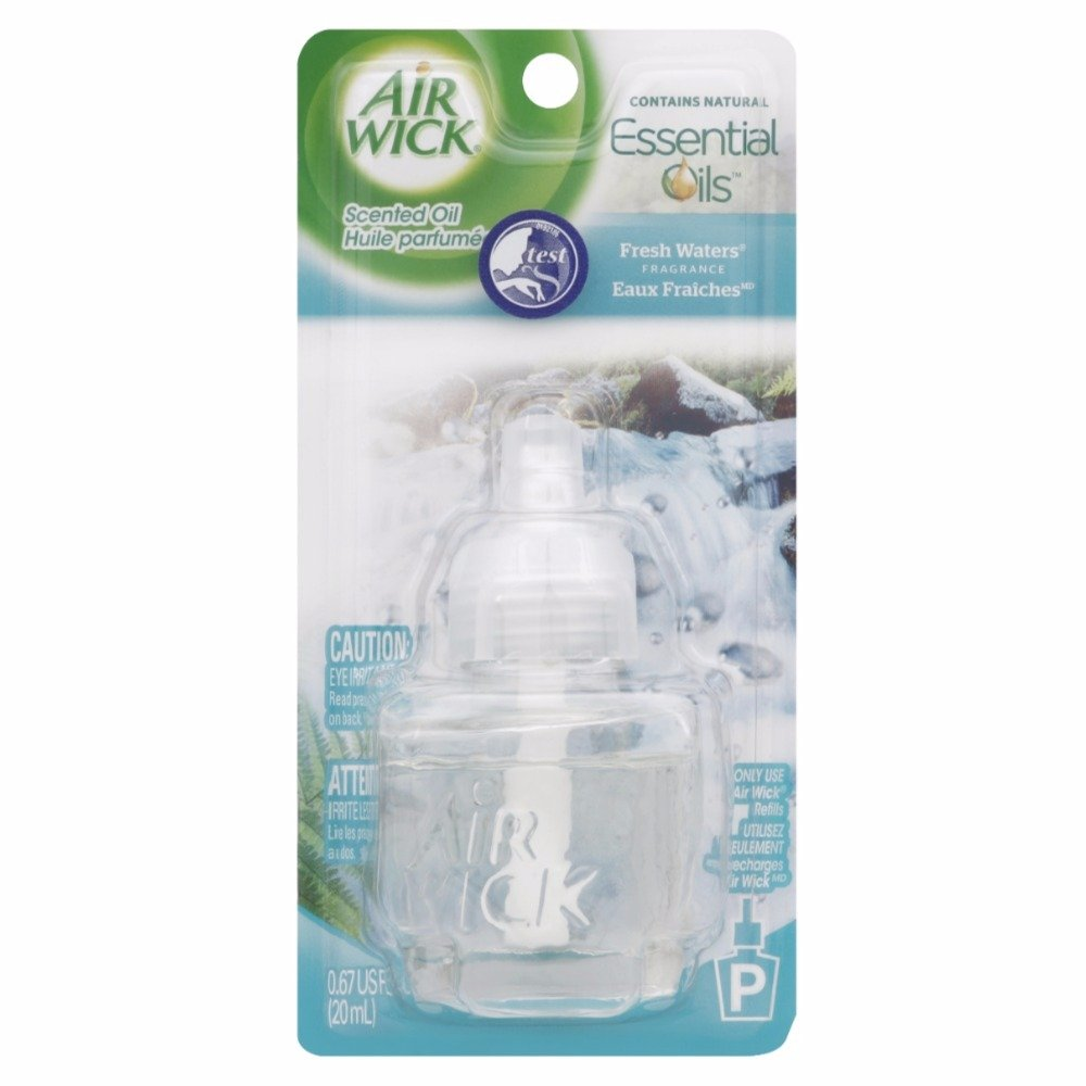Air Wick Scented Oil Air Freshener, Fresh Waters Scent, 1 Refill, 0.67 Ounce (Pack of 12)