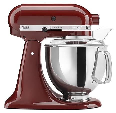 Amazon.com: KitchenAid KSM150PSGC Artisan Series 5-Qt. Stand Mixer ...