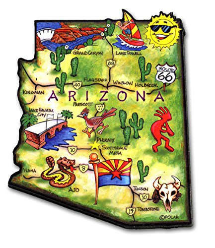 ARTWOOD MAGNET - ARIZONA STATE MAP
