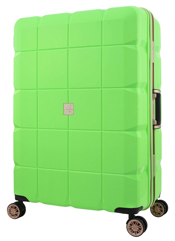 [アウトレット] スーツケース キャリーケース キャリーバッグ 旅行用品 LEGEND WALKER ARC レジェンドウォーカー Mサイズ フレーム B-6023-60 ダブルキャスター 100%PP超強ボディー グリーン   B07PPBYQND
