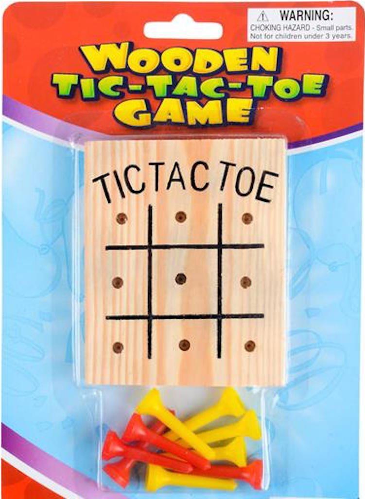 1 Dozen Wooden Tic-Tac-Toe Games